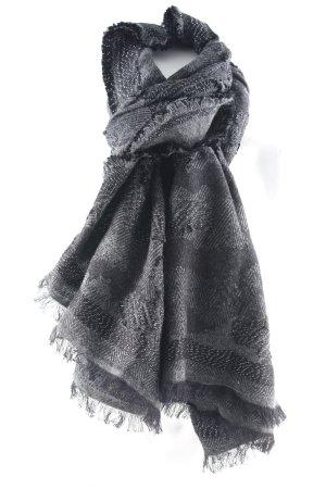 Codello Fransenschal schwarz-grau Casual-Look