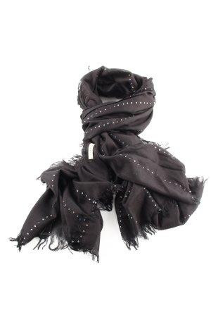 Codello Foulard noir motif de courtepointe style décontracté