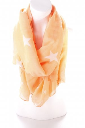 Codello Neckerchief neon orange-white themed print party style