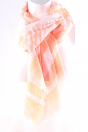 Codello Neckerchief white-neon orange striped pattern casual look