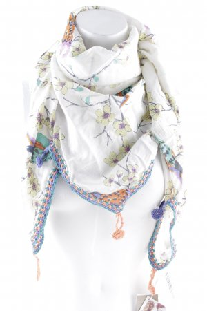 Codello Halstuch wollweiß Blumenmuster Casual-Look