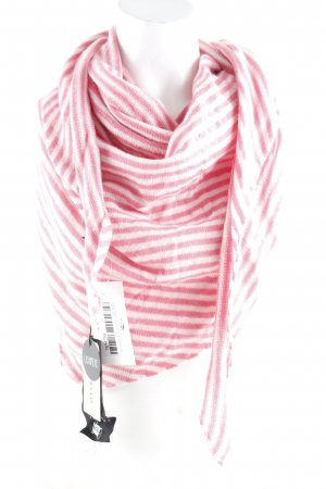 Codello Cashmere Scarf white-pink striped pattern casual look