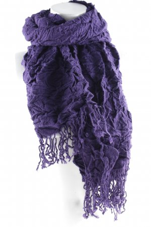 Codello Crinkle Scarf dark violet simple style