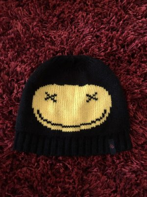 Codello Chapeau en tricot noir-jaune