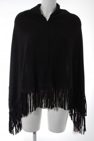 Codello Poncho negro look Boho