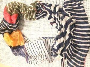 Codello Foulard en soie bleu-blanc cassé soie