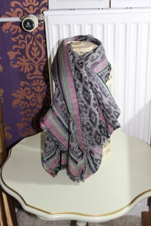 Codello Fringed Scarf dark grey-rose-gold-coloured viscose