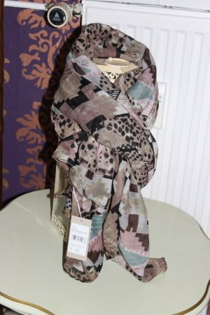 Codello Scarf grey brown-bronze-colored polyester