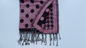 Codello Knitted Scarf pink-black viscose