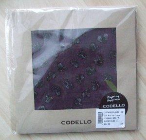 Codello Schal Tuch lila mit Herzen + Schriftzug - NEU