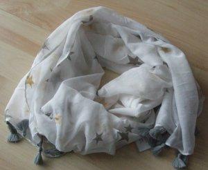 CODELLO Schal - weiß mit Sternen - NEU