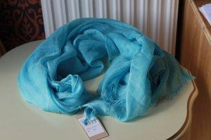 Codello Écharpe à franges bleu clair acrylique
