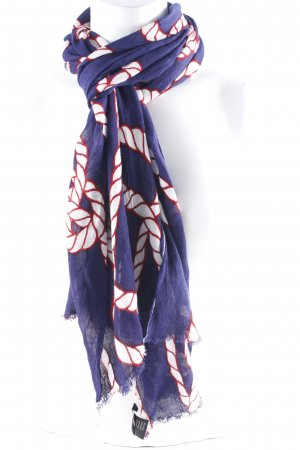Codello Shoulder Scarf dark blue abstract pattern navy look