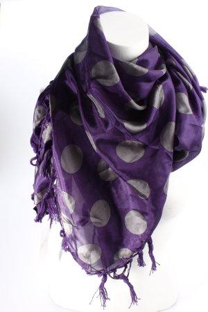 Codello Foulard en soie violet foncé-gris motif de tache style décontracté