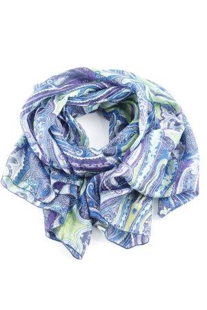 Codello Foulard en soie motif floral style classique