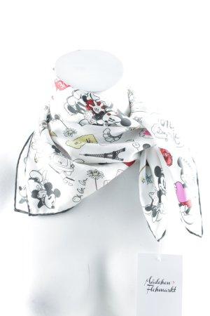Codello Foulard en soie blanc-noir Motif BD Look de BD