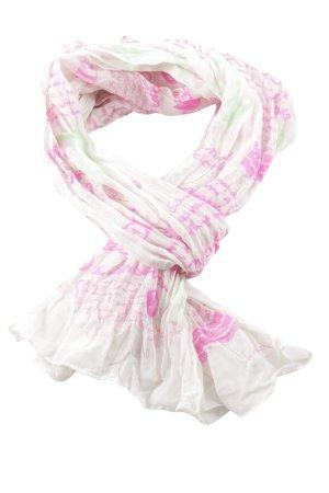 Codello Zomersjaal roze-wit volledige print casual uitstraling