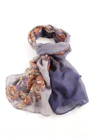 Codello Sommerschal blau-hellorange Blumenmuster Casual-Look