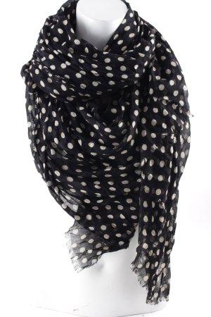 Codello Sommerschal creme-schwarz Punktemuster minimalistischer Stil