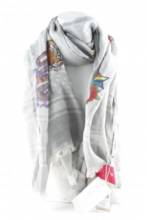 Codello Summer Scarf grey-light grey mixed pattern extravagant style