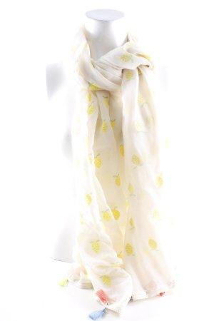 Codello Écharpe d'été beige clair-jaune primevère imprimé avec thème