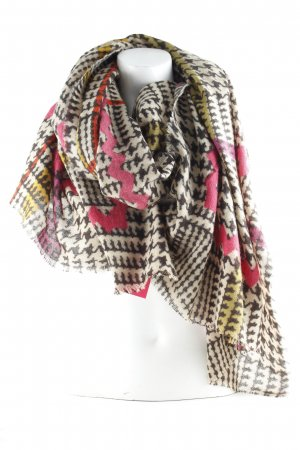 Codello Summer Scarf light brown-taupe houndstooth pattern casual look