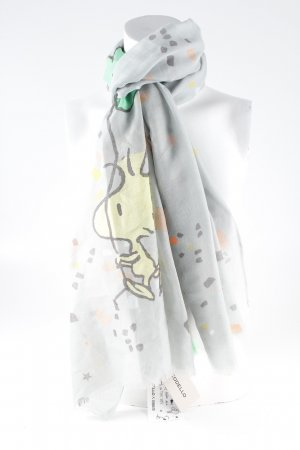 Codello Écharpe d'été bleu azur imprimé avec thème style décontracté