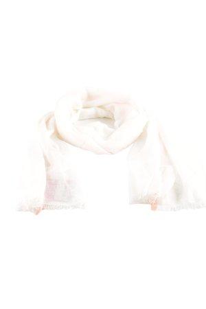Codello Écharpe d'été blanc cassé-rose fluo style décontracté