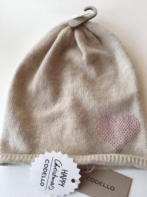 Codello Chapeau en tricot beige clair-rose
