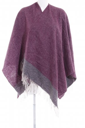 Codello Strickponcho purpur Casual-Look