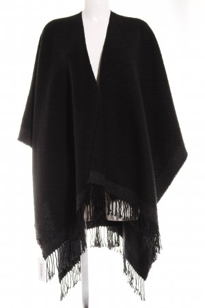 Codello Strickponcho schwarz-dunkelgrau Casual-Look