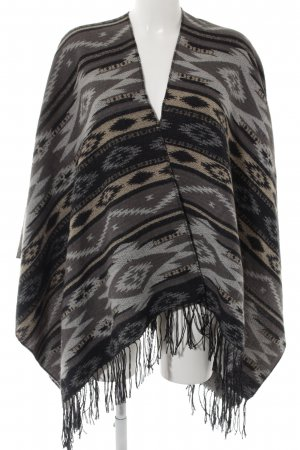 Codello Strickponcho Streifenmuster Casual-Look
