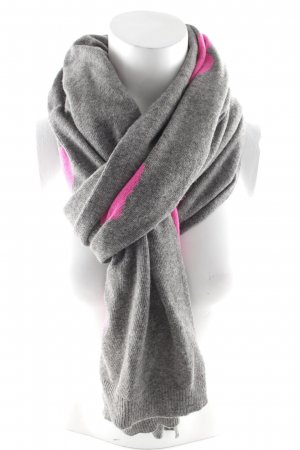 Codello Strickschal neonpink-grau Herzmuster Casual-Look