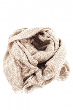 Codello Écharpe en tricot blanc cassé-blanc imprimé allover