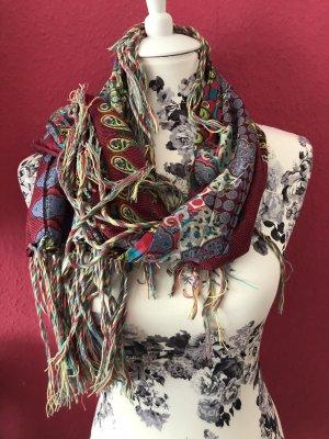 Codello Châle au tricot multicolore coton