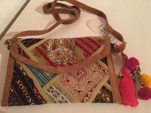 Codello Crossbody bag multicolored suede