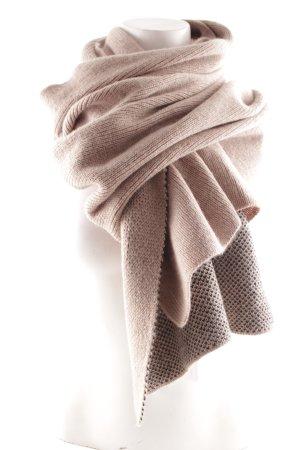 Codello Écharpe en laine chameau-magenta imprimé avec thème molletonné