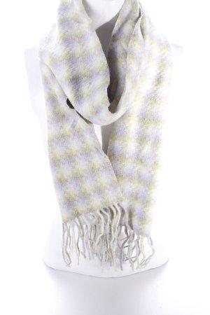 Codello Bufanda de lana multicolor Adorno de flecos