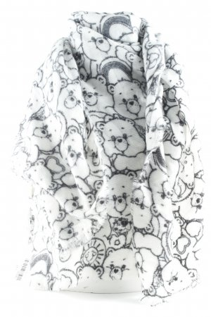 Codello Wollschal schwarz-weiß Motivdruck Comic-Look