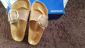 Cognac Big Buckle Birkenstocks