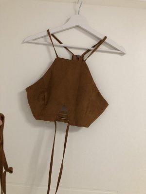 SheIn Basic Top cognac-coloured-brown