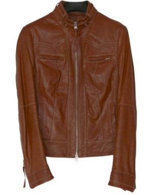 Cognac Brown LIU.JO Lamb Leather Jacket