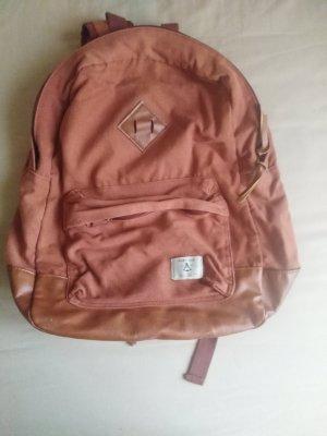 School Backpack cognac-coloured