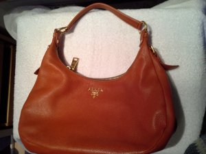 Prada Carry Bag cognac-coloured leather