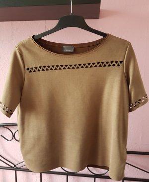 cognac farbenes Tshirt