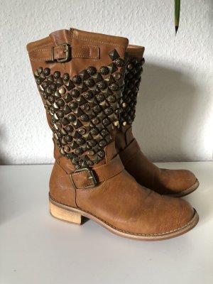 Short Boots cognac-coloured leather