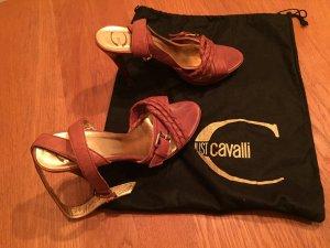 Cognacfarbene Cavalli Sandalen