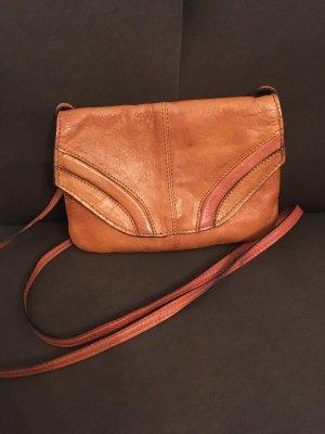 Pieces Mini Bag cognac-coloured leather