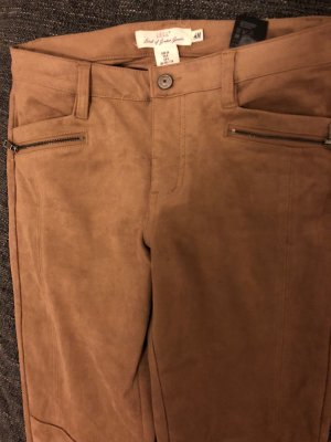 H&M Leather Trousers cognac-coloured