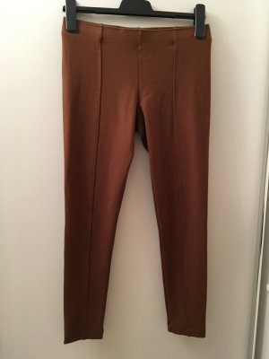 Cognacfarbene Leggings in Gr. S